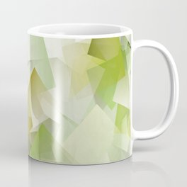 Geometric Stacks Green Coffee Mug