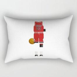 Bulls 23 Basketball Player Minimal Sticker Rectangular Pillow