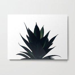 Aloe Vera Dark Green Metal Print