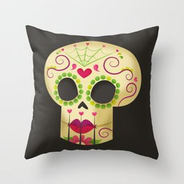 La Calaverita Throw Pillow