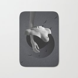 Minimal collage/Nude Bath Mat