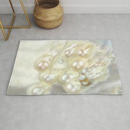 Shimmery Pearly Abalone Shell Rug