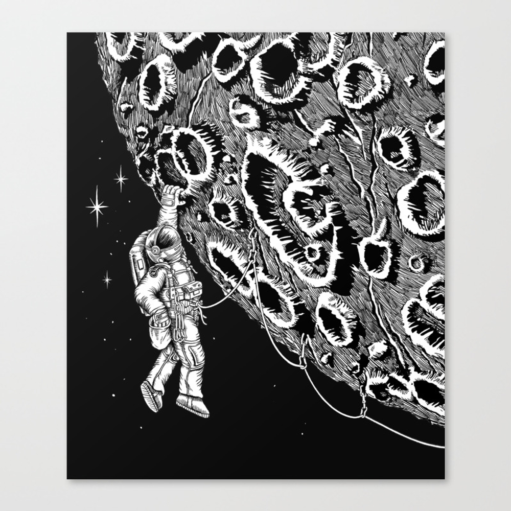 Armstrong 1969 Canvas Print by Dalleh CNV8687395