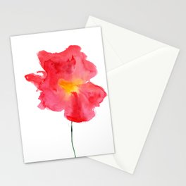 Dream big || watercolor flower Stationery Cards