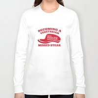 vegetarian Long Sleeve T-shirts featuring Becoming A Vegetarian Is A Huge Missed Steak by AmazingVision