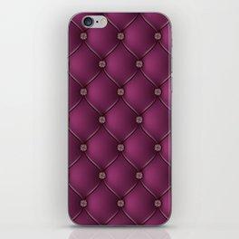 Purple Upholstery Pattern iPhone Skin