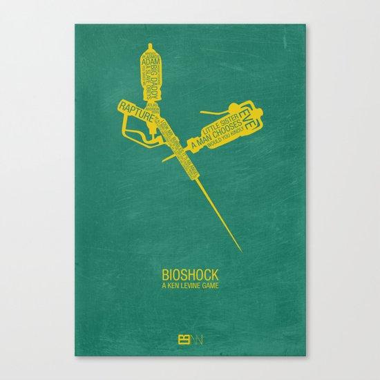 Bioshock Typography Canvas Print