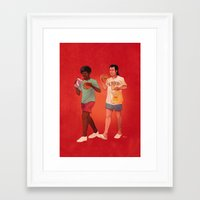 pulp Framed Art Prints featuring Pulp Fiction by Dave Collinson
