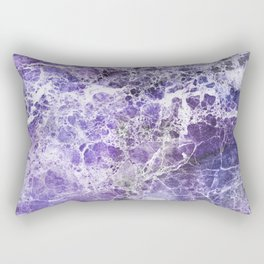 Organic Purple Abstract Marble Rectangular Pillow