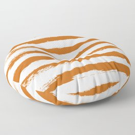 Autumn Maple STRIPES Handpainted Brushstrokes Floor Pillow