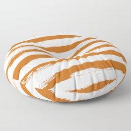 Autumn Maple STRIPES Handpainted Brushstrokes Floor Pillow