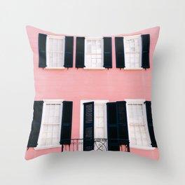 Charleston Pink VII Throw Pillow