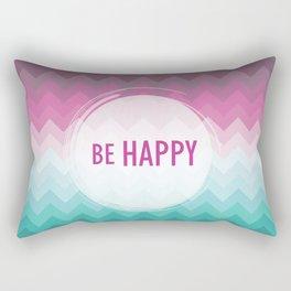 Be happy Rectangular Pillow