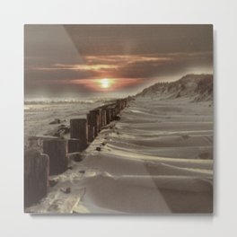 Fort Tilden Beach NYC sunset Metal Print