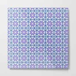 Symmetrical tile design Metal Print