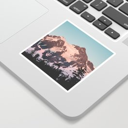 Pink Cascade Mountain Sticker