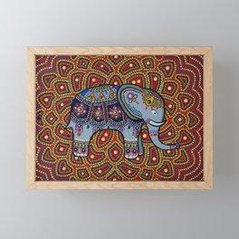 Indian Elephant facing right Framed Mini Art Print