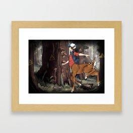 Monster Falls: Dipper Framed Art Print