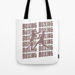 Boxing Repeat Fighting Cardio Fight Sparring Red Tote Bag