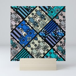 rustic patchwork 2 Mini Art Print