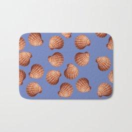 Blue Big Clams Illustration pattern Bath Mat