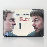 fargo iPad Cases featuring Fargo tv serie by Magdalena Almero