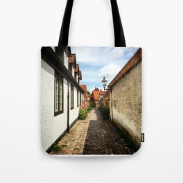 Narrow streets of Ribe Tote Bag