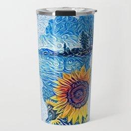 Lake Tahoe Sunflower Travel Mug