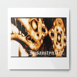 InsanitynArt's Plague Doctors of Death Digitally Edited Illustration. Metal Print