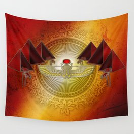 Egyptian sign, the scarab Wall Tapestry
