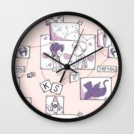 Corkboard to Love Wall Clock