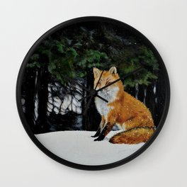 Red Fox of Algonquin by Teresa Thompson Wall Clock