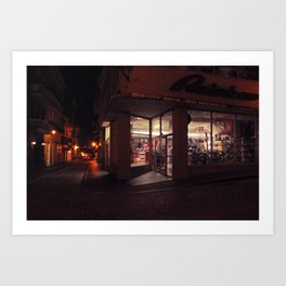 nighthawk in old san juan Art Print