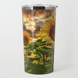 Sunflowers at Sunset Travel Mug