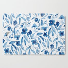Prussian Floral Cutting Board