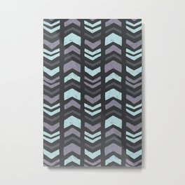 Mixed Chevron Metal Print