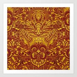 Balinese abstract art Art Print