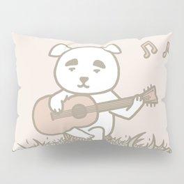 Dog with guitar K.K. | Animal Villager | illustration Pillow Sham