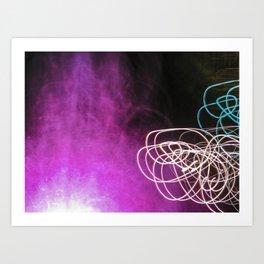 Light Painting Art Print