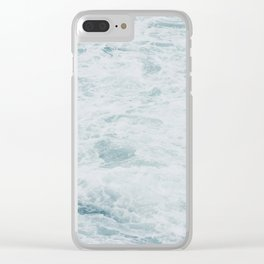 WAVES CHURNING Clear iPhone Case