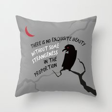 Beauty by Poe Throw Pillow