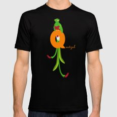 q for quetzal MEDIUM Mens Fitted Tee Black