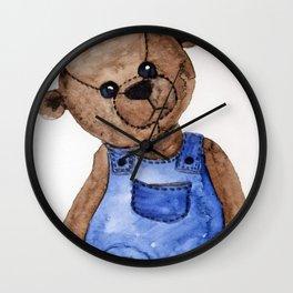 Thoughtful Teddy Wall Clock