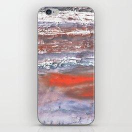 Blue orange marble wash drawing texture iPhone Skin