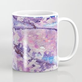 Violet and pink marble texture Coffee Mug