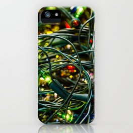 Christmas lights iPhone Case