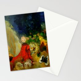 """Odilon Redon """"The Red Sphinx"""" Stationery Cards"""