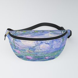Claude Monet Water Lilies French Impressionist Art Fanny Pack