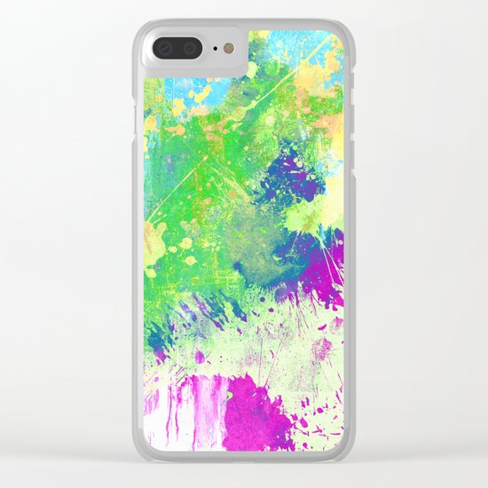 Love Colour (Abstract, colourful painting) Clear iPhone Case