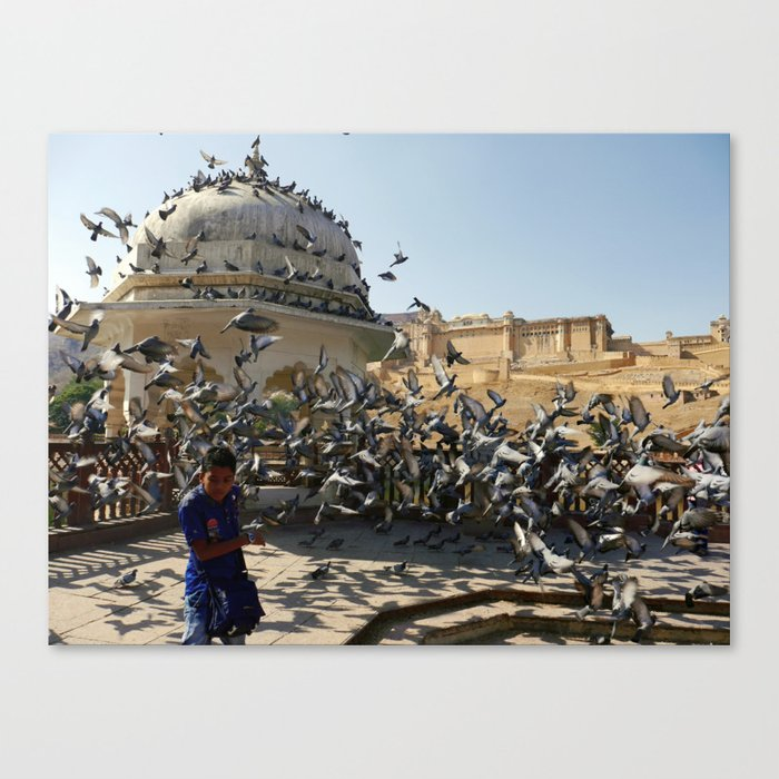 Amer Fort in Jaipur Canvas Print